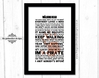 The Walking Dead - TV Series - Typography - Quotes & Words - PRINT