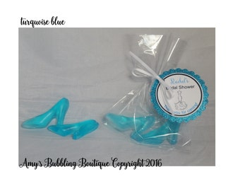 High Heel Shoes Soap - Party Favors for Bachelorette Party, Birthday Party, Sweet 16, Quincenaera or Bridal Shower Custom Made, Pack of 10