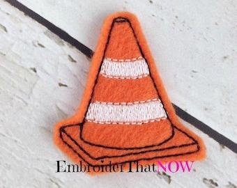 Safety Cone Digital Feltie Embroidery Design File