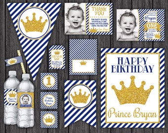 Prince Birthday Invitation and Party Decorations - 10 Printable Digital Files