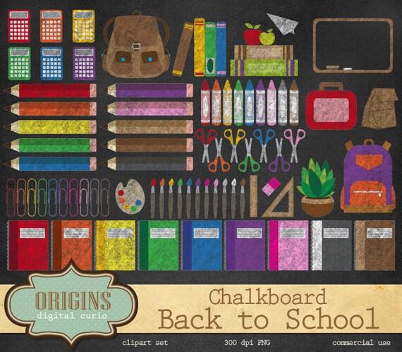 Chalkboard School Clipart Back To School Clipart School