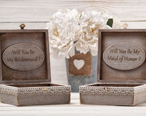 Maid of Honor Gift Box Bridesmaid Proposal Box Personalized Will You Be My Bridesmaid Sister of the Bride Box Personalized Memory Box