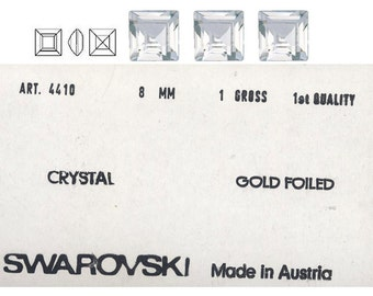 Swarovski 8mm and 10mm Square pointed back crystal stone.  Price is for 5 stones