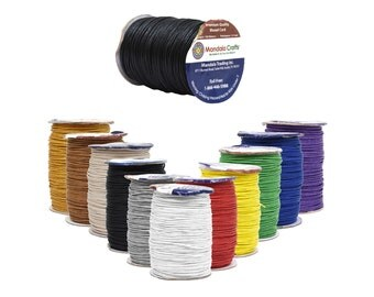 Mandala Crafts® Waxed Cord, Beading Cord, 1.5mm, 100 Meters, 109 Yards, Different Color Selections