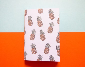 Small Pineapple Notebook / Tropical Notebook / Pocket Notebook / Cute Stationery