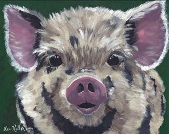 "Pig Print Instant Download ""Gilbert"""
