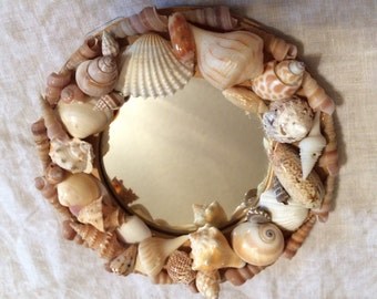 Small round Sea Shell Mirror