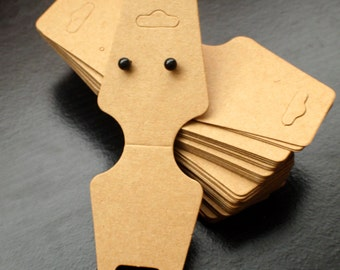 Necklace craft paper tag with earring holes- jewelry packaging