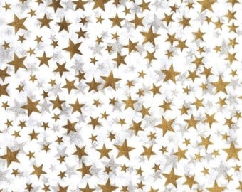 Gold Star Tissue Paper # 233 / Gift Paper - 50th Anniversary, Wedding ...... 10 large sheets
