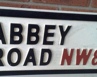 Abbey Road Sign (Wood)