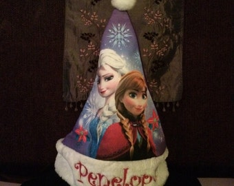 Frozen Elsa & Anna Christmas Stocking Cap Hat  - Personalized