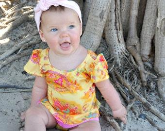Calipo Baby Girl One Piece Swimmers, baby swimwear, baby swimsuit, girls swimsuit