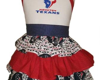 Houston Texans ruffled Halter Dress