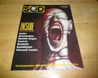 VADER Sounds Of Death METAL Magazine #3 morbid angel DISMEMBER