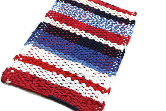 Americana Home Decor Hand Woven Rag Rug Red White Amp By