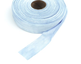 Blue Knit Bias Tape Tie Dye 1.25 inches wide x 8 Yards