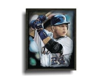 8x10 Miguel Cabrera plaque, Detroit Tiger Art, Baseball Art, Sports Art