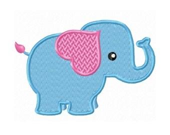 Cute Little Elephant Fill Machine Embroidery DESIGN NO. 465