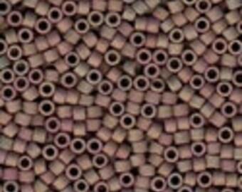 MIYUKI #11 Delica 1061 - Matte Clay Luster AB - 5 grams