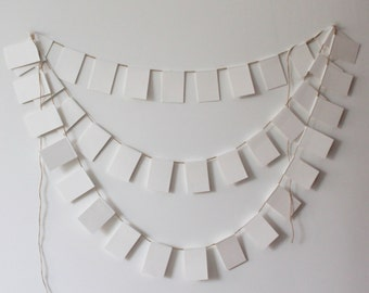 White Wedding Banner, Wedding Garland, Wedding Paper Chain