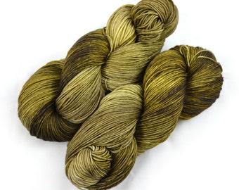Hand Dyed Sock Yarn - Wormwood - Superwash Merino/Cashmere/Nylon