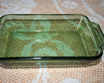 Anchor Hocking Green Loaf Dish