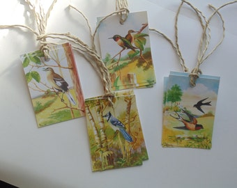 Vintage Style Bird Tags Gift Tags