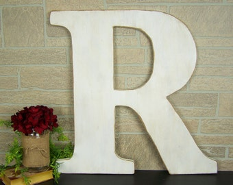 Rustic Wedding Guest Book Alternative Wedding Letter Large Wooden Letter R Rustic Wedding Decor Wedding Photo Prop Wood Letter for Wall A-Z