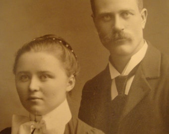 Cabinet Card Handsome Couple