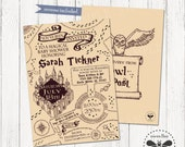 Magical Baby Shower Invitation, Printable Harry Potter Inspired Party Invite, Marauders Map Inspired Digital Party Invitation