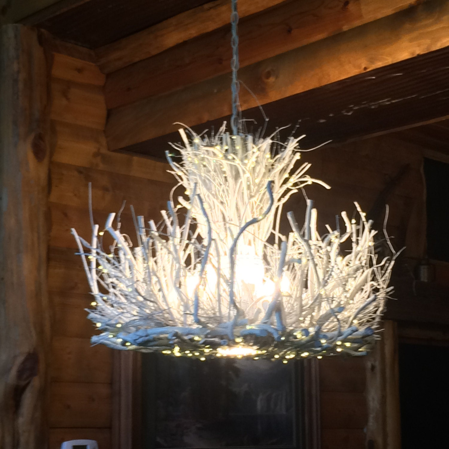 Shenandoah 5 1 Down Light Rustic Chandelier Twig