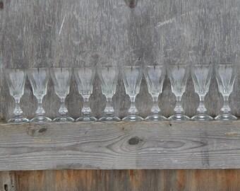 Soviet Shot Glass Set of 10 Soviet Vodka Glass 50 ml ,1970-s Soviet Design Collectible Elegant Tableware
