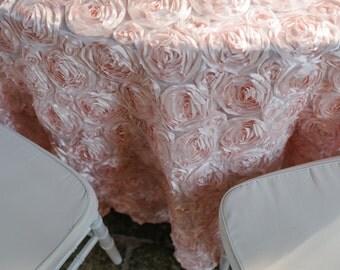 Peony Satin Tablecloth - Blush Pink or Cream