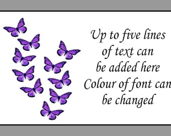 Purple Butterflies  Mini Personalised Sticky Labels x 260