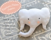 Elephant Pillow Sewing Pattern // Make your own // Toy Pattern // Easy Sewing Pattern // Instant Download // PDF //  Solipandi