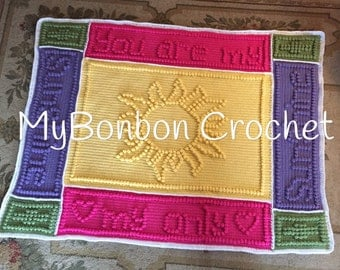 Free Crochet Pattern For You Are My Sunshine Blanket : I love you to the moon and back baby blanket receiving