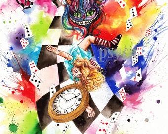 Alice in wonderland print by Psyca