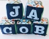 Fabric Baby Blocks | Fabric Toys | CE Tested Toys | Soft Blocks | Alphabet Blocks | Personalised Toys | Noisy Toys| Custom Baby Toy