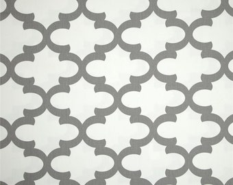 Grey Valance.Gray  Trellis Valance .Curtain Valence.Custom Valence.