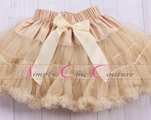 Toffee Cream Pettiskirt, Girls First birthday Outfit, Pettiskirt, Newborn Photo Prop, infant tutu, newborn tutu, girls pettiskirt, tutu