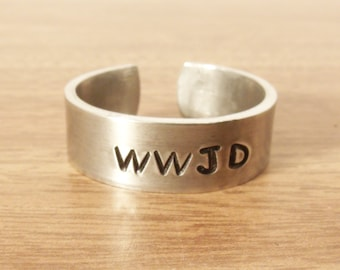 WWJD Ring, WWJD Religious Ring, What Would Jesus Do Ring (HSR0011)