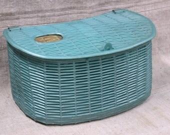 Fisherman basket, plastic, vintage French