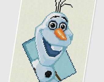 PDF Cross Stitch pattern - 0038.Olaf (Frozen) - INSTANT DOWNLOAD