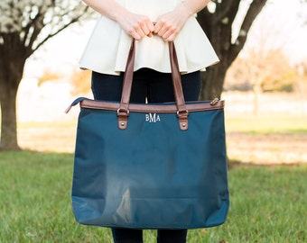 Monogrammed Carry On Tote