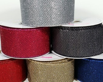 "2"" Shiny Metallic Ribbon - 10 Yards"