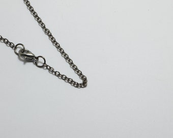 """10 Brass Chain Necklaces in Gun Metal Plated, 2mm Cable Chain, 18"""" Inches Long, Anti-Rust, Strong, Soldered. #SD-S7902-18"""