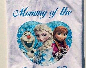 Frozen birthday  Shirt, Frozen Birthday outfit, Anna Shirt, Elsa Shirt,  Frozen Party, Frozen Birthday Outfit, Mommy of the Birthday Girl