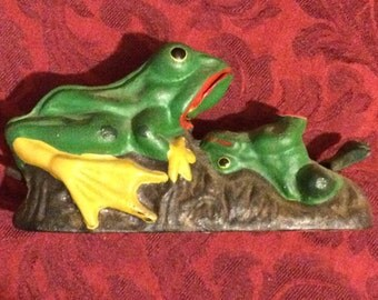 Cast Iron Frog Bank