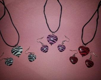 Valentine's  Jewelry Earrings,Dog Tags,Heart Set)