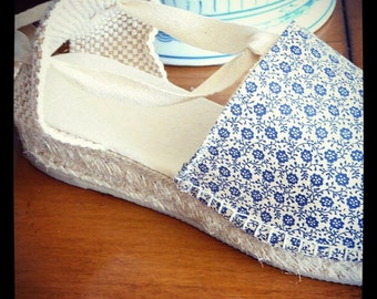Lace-up flat espadrilles - PETIT COLLECTION - mumishoes - made in spain